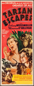 "Movie Posters:Adventure, Tarzan Escapes (MGM, R-1954). Insert (14"" X 36""). Adventure.. ..."