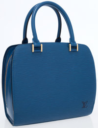 Louis Vuitton Blue Epi Leather Pont Neuf Bag