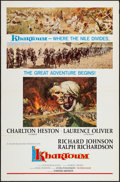 "Movie Posters:Adventure, Khartoum (United Artists, 1966). One Sheet (27"" X 41"") Style B FlatFolded. Adventure.. ..."