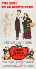 """Movie Posters:Comedy, Pocketful of Miracles (United Artists, 1962). Three Sheet (41"""" X 79""""). Comedy.. ..."""