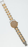 Luxury Accessories:Accessories, Hermes Gold Plated & Stainless Steel Arceau PM Watch. ...