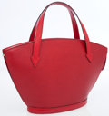 Luxury Accessories:Bags, Louis Vuitton Red Epi Leather Saint Jacques PM Tote Bag. ...