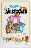 "Movie Posters:Animation, The Aristocats (Buena Vista, R-1980). One Sheet (27"" X 41""). Animation.. ..."