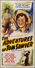 "Movie Posters:Adventure, The Adventures of Tom Sawyer (Casanave-Artlee, R-1945). Three Sheet(41"" X 79""). Adventure.. ..."