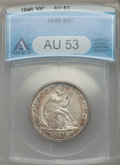 Seated Half Dollars: , 1848 50C AU53 ANACS. NGC Census: (2/45). PCGS Population (7/45).Mintage: 580,000. Numismedia Wsl. Price for problem free N...