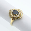 Estate Jewelry:Rings, Synthetic Color Change Sapphire, Diamond, Gold Ring. ...