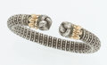 Estate Jewelry:Bracelets, Sterling Silver, Gold Bracelet, Alwand Vahan. ...