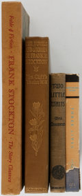 Books:Literature Pre-1900, [Frank Stockton]. Group of Four Books with Two Titles Related toFrank Stockton. Various Publishers, [1899-1949]. Octavos. P...(Total: 4 Items)