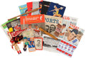 Miscellaneous Collectibles:General, 1930's-1980's Vintage Baseball, Football, Ice Skating+ Collection(36) With Babe Ruth Mini Bat. ...