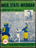 Football Collectibles:Programs, 1949 Michigan Vs. Michigan State Football Program. ...