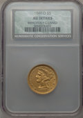 Liberty Half Eagles: , 1840-O $5 Narrow Mill -- Improperly Cleaned -- NCS. AU Details. NGCCensus: (16/82). PCGS Population (13/31). Mintage: 40,1...