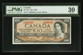 Canadian Currency: , BC-43c 1954 $100. ...