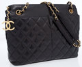 Luxury Accessories:Bags, Chanel Black Quilted Lambskin Leather Tote Bag with InterchangeableShoulder Straps. ...