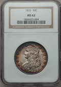 Bust Half Dollars, 1832 50C Small Letters MS62 NGC. O-106, R.1....