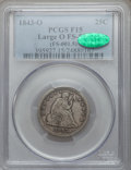 Seated Quarters, 1843-O 25C Large O Fine 15 PCGS. CAC. FS-501....