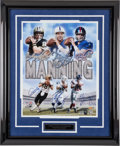 Football Collectibles:Photos, Archie, Peyton and Eli Manning Multi Signed Oversized Photograph....