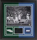 "Football Collectibles:Photos, Chuck Bednarik ""This Game is F** Over, Sorry Frank"" Signed and Inscribed Oversized Photograph...."