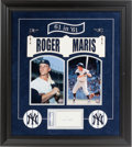 Baseball Collectibles:Others, Roger Maris Signed Index Card Display....
