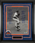 Baseball Collectibles:Photos, 1969 New York Mets Team Signed Oversized Photograph....