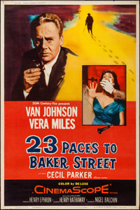 "23 Paces to Baker Street (20th Century Fox, 1956). Poster (40"" X 60"") Style Y. Mystery"