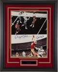 """Football Collectibles:Photos, Joe Montana and Dwight Clark """"The Catch"""" Multi Signed Oversized Photograph...."""