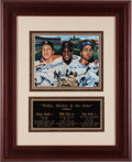 Baseball Collectibles:Photos, Mickey Mantle, Willie Mays and Duke Snider Multi Signed Print....
