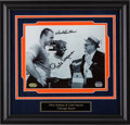 Football Collectibles:Photos, Dick Butkus and Gale Sayers Multi Signed Photograph....