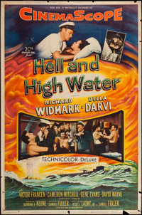 """Hell and High Water (20th Century Fox, 1954). Poster (40"""" X 60"""") Style Y. Drama"""