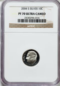Proof Roosevelt Dimes, 2004-S 10C Silver PR70 Ultra Cameo NGC. NGC Census: (2060). PCGSPopulation (520). Numismedia Wsl. Price for problem free ...