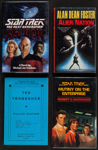 Star Trek: The Next Generation - Reunion & Others (Pocket Books, 1991). Autographed Hard Cover Book (343 Pages...