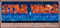 """Star Wars: The First Ten Years (The Mind's Eye Press, 1987). Autographed Banner (16.75"""" X 36""""). Science Fictio..."""
