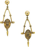 Estate Jewelry:Earrings, Gold Earrings. ...