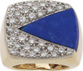 Estate Jewelry:Rings, Lapis Lazuli, Diamond, Gold Ring. ...