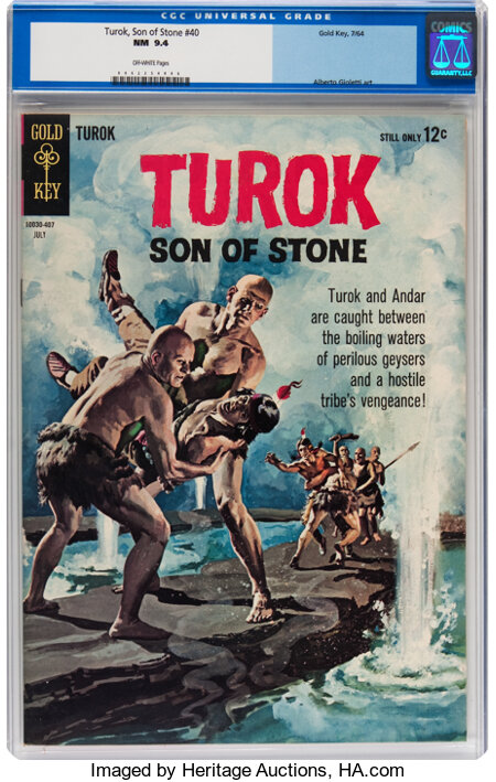 Turok, Son of Stone #40 (Gold Key, 1964) CGC NM 9.4 Off-white pages....
