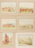 Books:Prints & Leaves, [George Catlin]. Group of Six (6) Octavo Prints from GeorgeCatlin's North American Indians. Each matted andmea...
