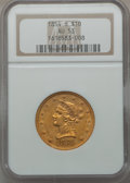 Liberty Eagles, 1854-S $10 AU53 NGC....