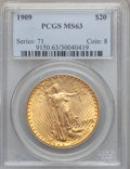 Saint-Gaudens Double Eagles, 1909 $20 MS63 PCGS....