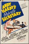 "Movie Posters:Comedy, Andy Hardy's Private Secretary (MGM, 1941). One Sheet (27"" X 41"")Style D. Comedy.. ..."