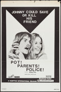 "Movie Posters:Exploitation, Pot! Parents! Police! (Hampton International, 1972). One Sheet (27""X 41""). Exploitation.. ..."