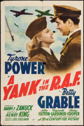 """Movie Posters:War, A Yank in the R.A.F. (20th Century Fox, 1941). One Sheet (27"""" X41"""") Style B. War.. ..."""