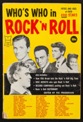 "Movie Posters:Rock and Roll, Who's Who in Rock 'n Roll (Frederick Fell Inc., 1958). Soft CoverBook (96 Pages, 6"" X 9""). Rock and Roll.. ..."