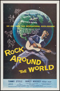 "Movie Posters:Rock and Roll, Rock Around the World (American International, 1957). One Sheet(27"" X 41""). Rock and Roll.. ..."