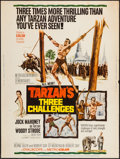 "Movie Posters:Adventure, Tarzan's Three Challenges (MGM, 1963). Poster (30"" X 40"").Adventure.. ..."