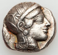 Ancients:Greek, Ancients: ATTICA. Athens. Ca. 454-404 BC. AR tetradrachm (17.36gm). ...