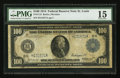 Fr. 1112 $100 1914 Federal Reserve Note PMG Choice Fine 15