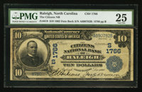 Raleigh, NC - $10 1902 Date Back Fr. 619 The Citizens NB Ch. # (S)1766