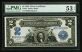 Large Size:Silver Certificates, Fr. 255 $2 1899 Silver Certificate PMG About Uncirculated 53 EPQ.. ...