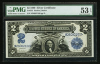 Fr. 255 $2 1899 Silver Certificate PMG About Uncirculated 53 EPQ