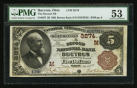 Bucyrus, OH - $5 1882 Brown Back Fr. 467 The Second NB Ch. # (M)3274