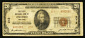 National Bank Notes:New York, Oxford, NY - $20 1929 Ty. 2 The First NB Ch. # 273. ...